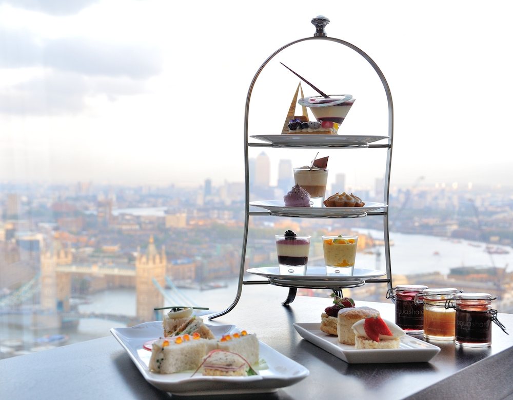 Afternoon tea at Aqua Shard