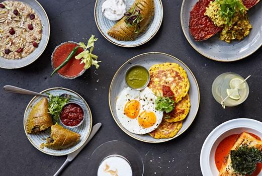 brunch at Gunpowder Indian restaurant in Spitalfields