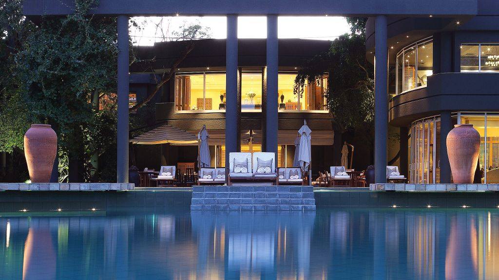 The swimming pool at The Saxon Hotel