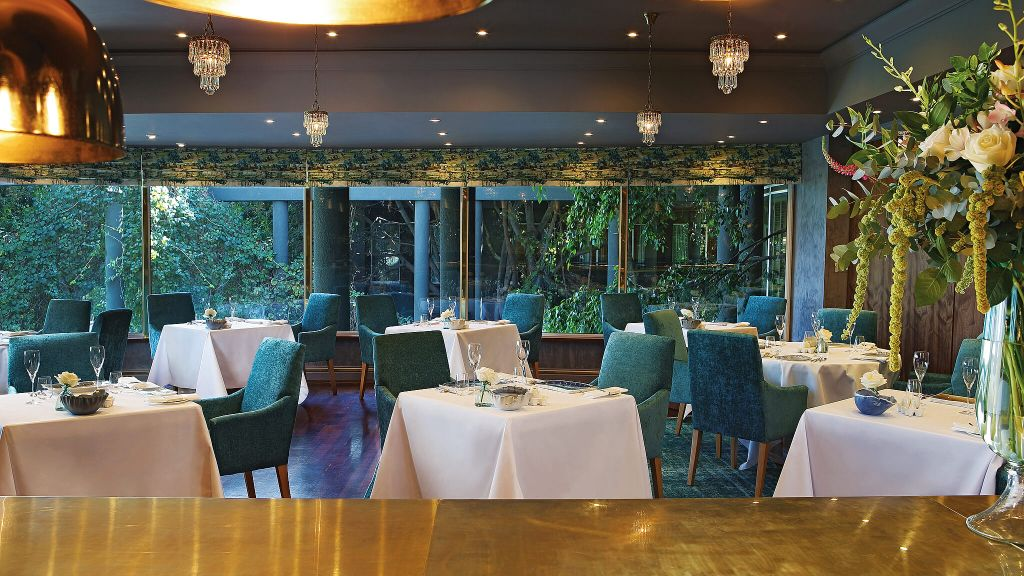 The restaurant at The Saxon Hotel