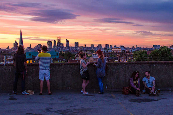 Frank's Cafe Rooftop Bar in Peckham