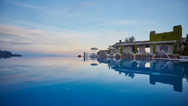 The pool at Belmond Caruso