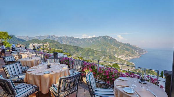 The restaurant at Belmond Caruso in Ravello