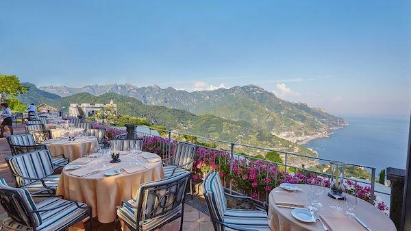 The restaurant at Belmond Caruso in Ravello