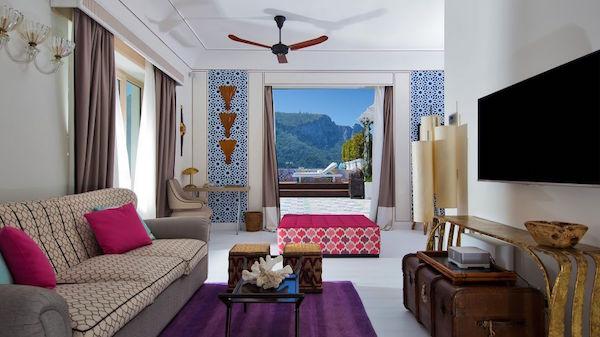 The penthouse at Capri Tiberio Palace