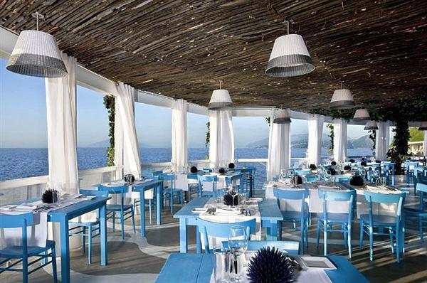 Il Riccio restaurant at the Capri Palace Hotel in Capri