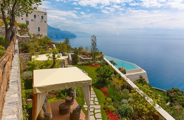 The pool at Monastero Santa Rosa in Amalfi