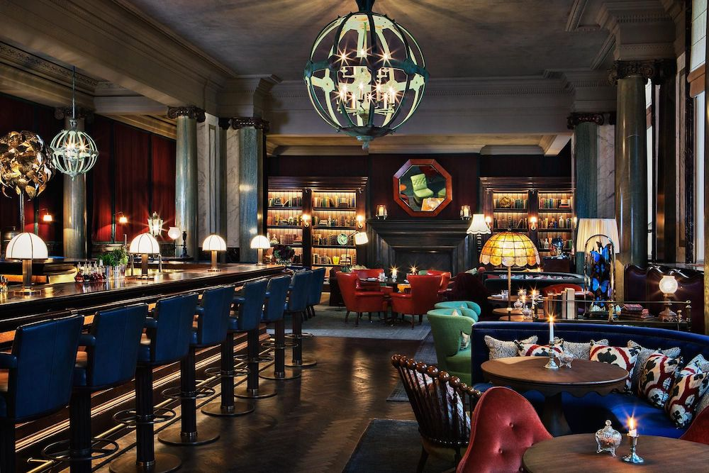 The gorgeous Scarfes Bar at Rosewood London