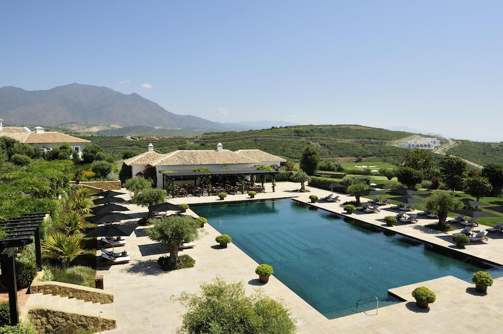 stunning swimming pool at Finca Cortesin