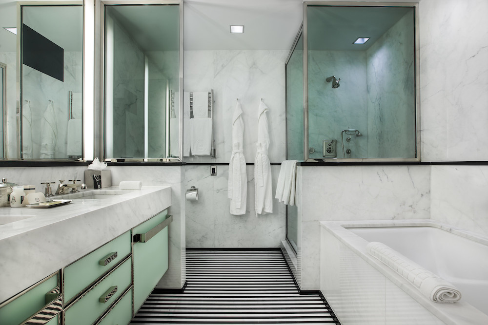 The bathrooms at The Mark Hotel in New York