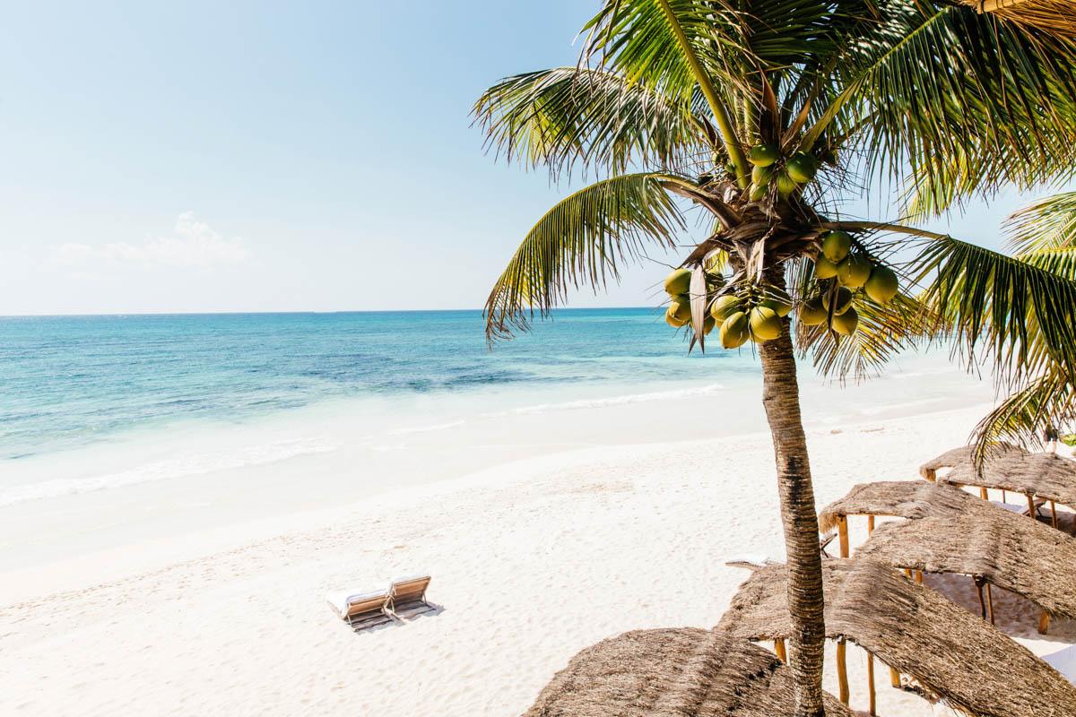 The beach at hotel Esencia