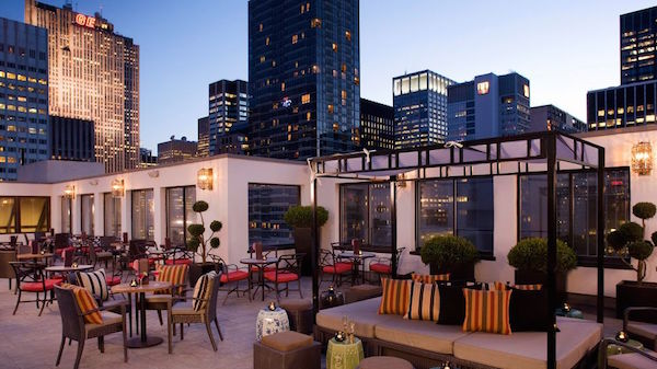 The rooftop bar at The Peninsula New York