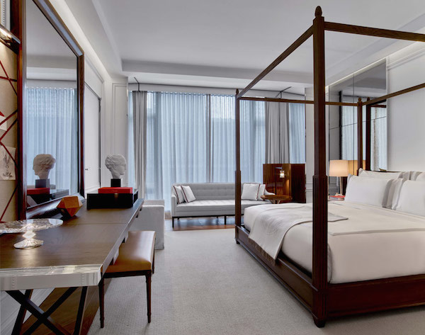 Bedrooms at The Baccarat Hotel New York