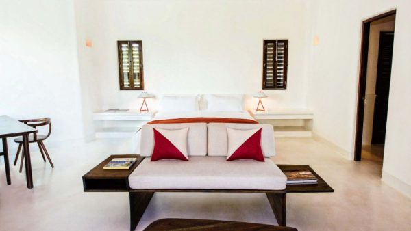 The bedrooms at Hotel Esencia in Tulum