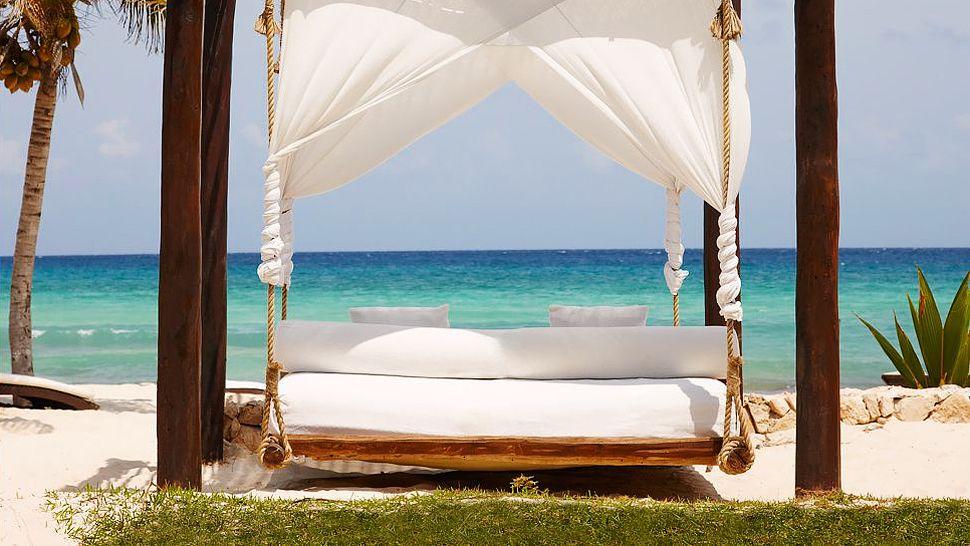 The beach at Viceroy Riviera Maya