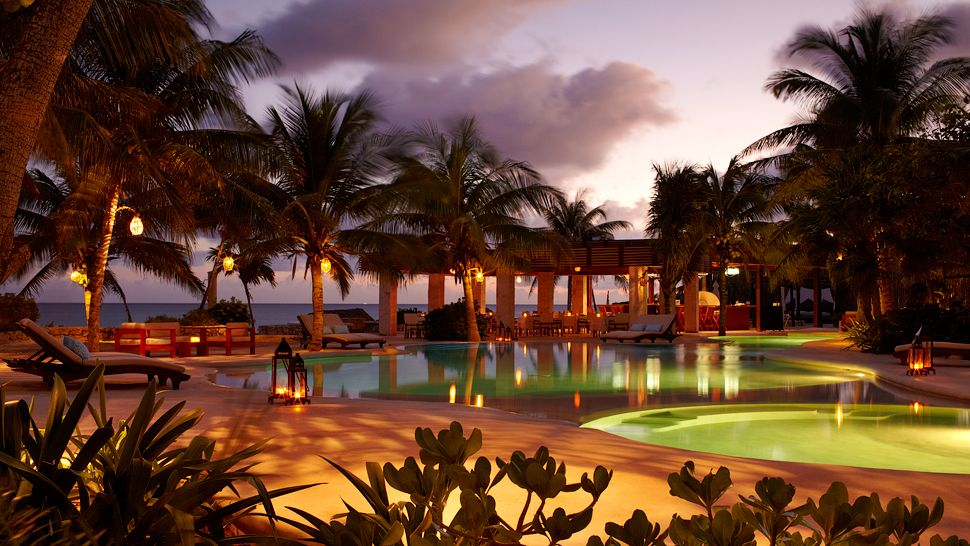 Night time at Viceroy Riviera Maya