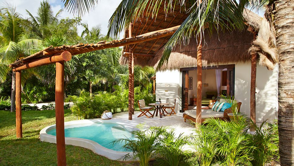 The rooms at Viceroy Riviera Maya