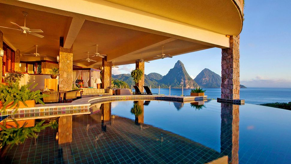 The rooms at Jade Mountain in St Lucia