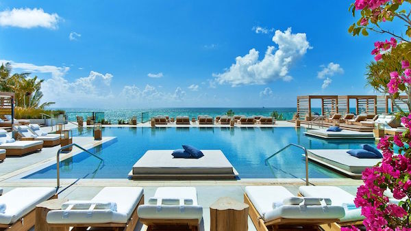 The pool at 1 Hotel South Beach Miami