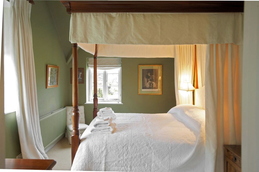 The bedrooms at Bruern Cottages in The Cotswolds