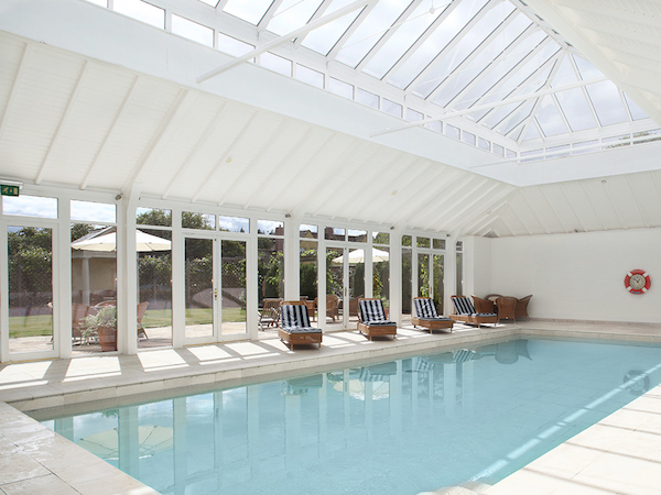 Swimming pool at Bruern Cottages in the Cotswolds
