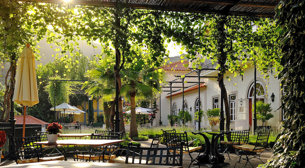 The terrace at Vintage House Douro
