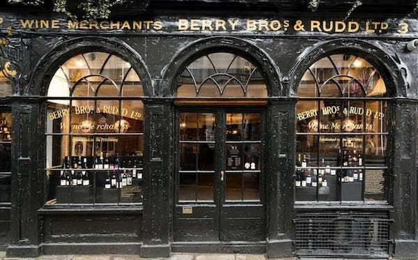 Berry Bros & Rudd Wine Shop