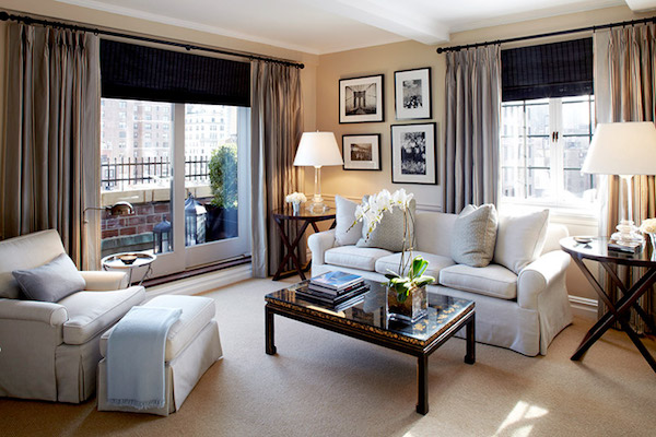 The living room at The Lowell Hotel New York