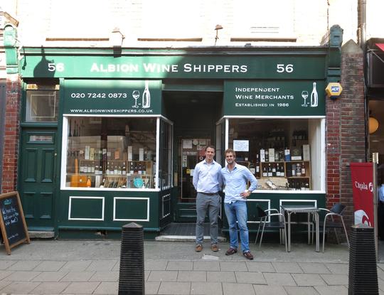 Albion wines in Bloomsbury