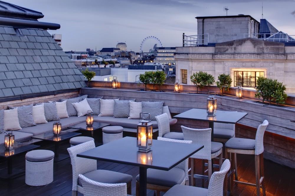 Rooftop terrace at Aqua London