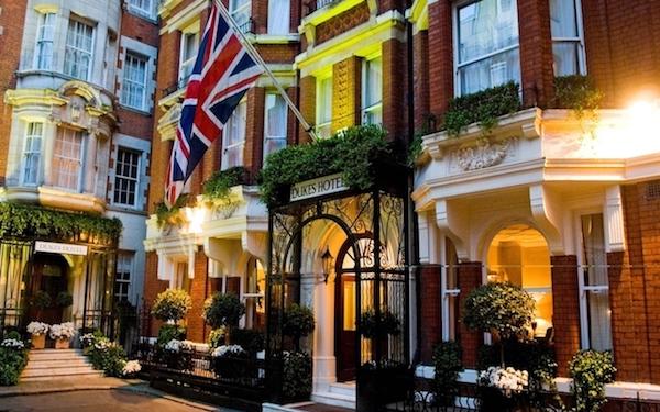 GBR restaurant at Dukes Hotel London