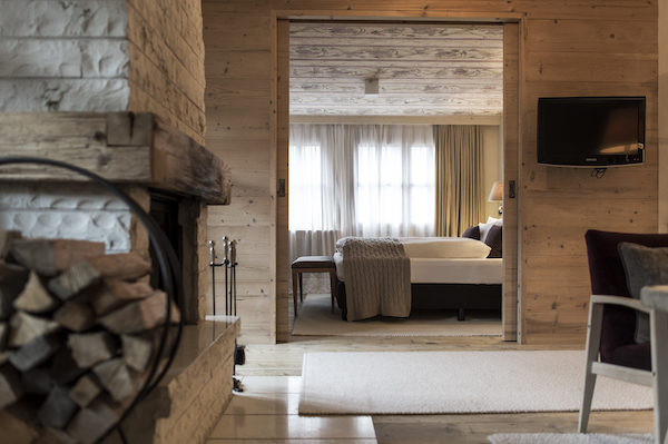 The bedrooms at Rosa Alpina Hotel