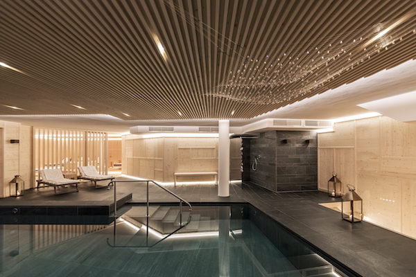 The spa at Rosa Alpina Hotel