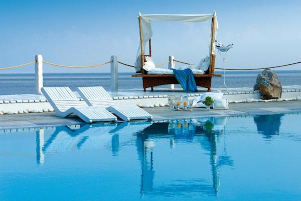 The pool at Kivotos Mykonos