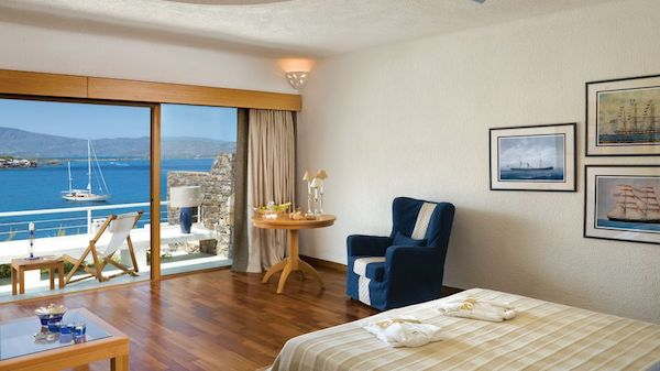 Bedrooms at Elounda Peninsula All Suite Hotel