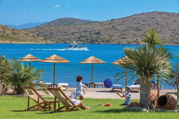 the beach club at Elounda Gulf Villas & Suites