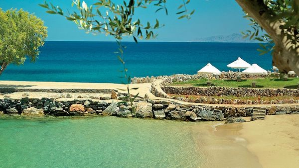 The beach at Elounda Mare Hotel