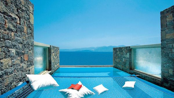 The private pool at Elounda Peninsula All Suite Hotel