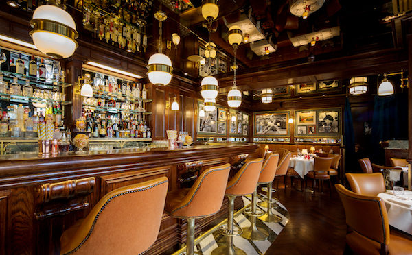 The bar at Harry's Dolce Vita