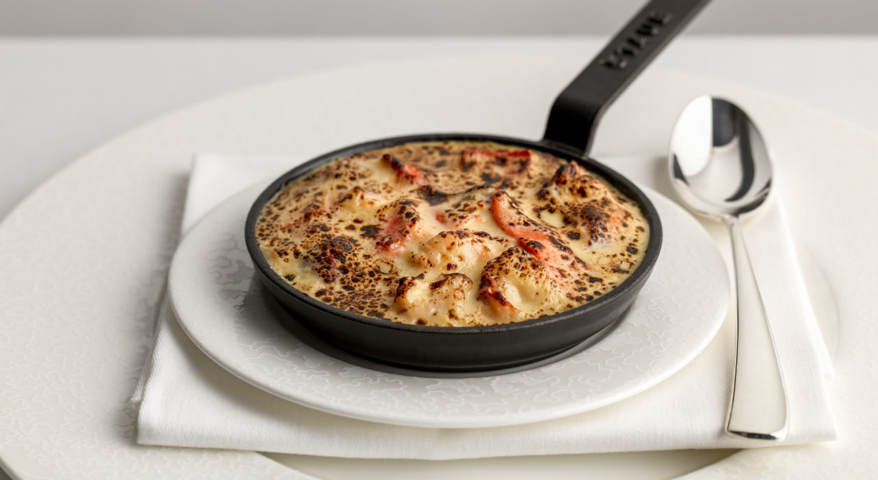 glazed omelette 'Lobster Thermidor