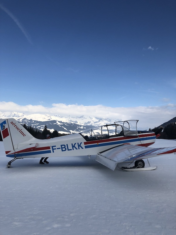 Panoramic plane ride around Mont Blanc