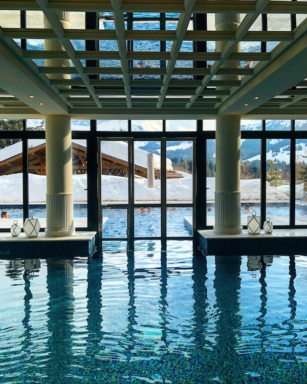 The gorgeous pool at Four Seasons Megeve