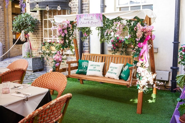 The terrace at Hush mayfair