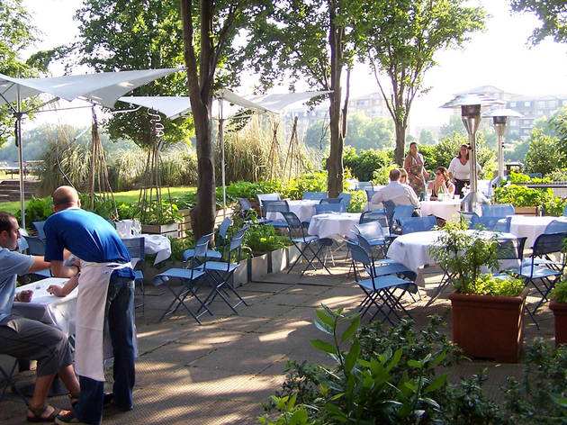 River Café, an Italian restaurant with a fantastic river-side terrace in Hammersmith