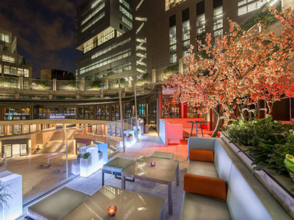 Yauatcha City, one of the best outdoor restaurants in London