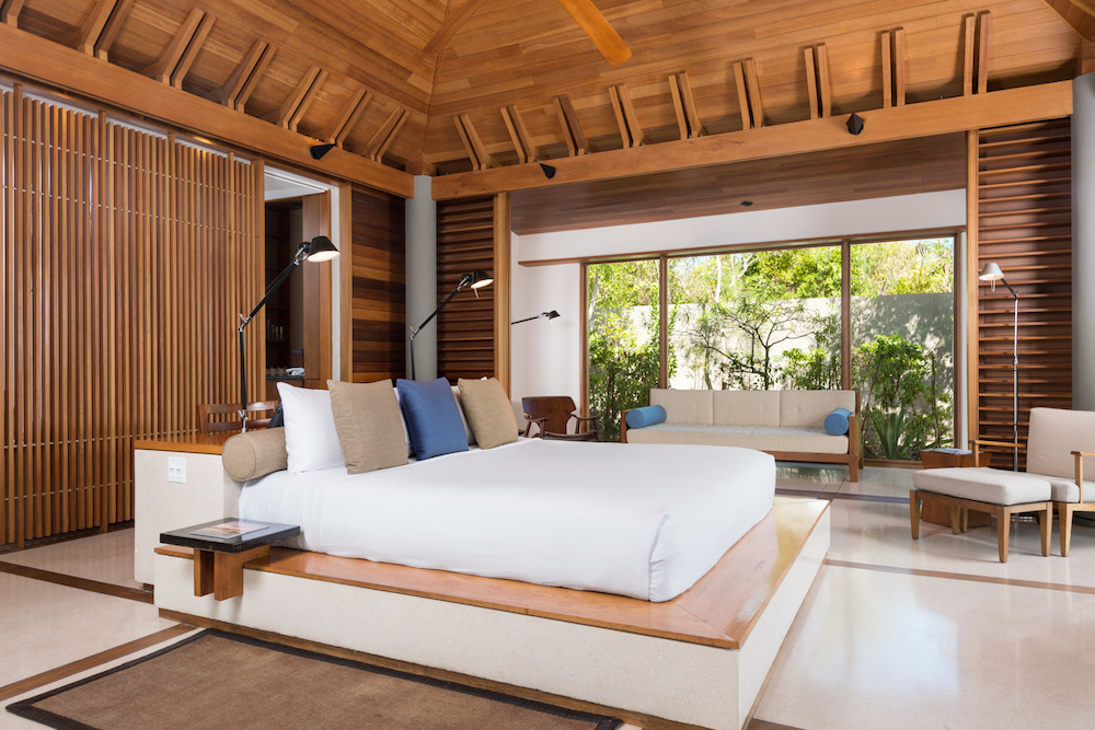 The stunning bedrooms at Amanyara in the Caribbean
