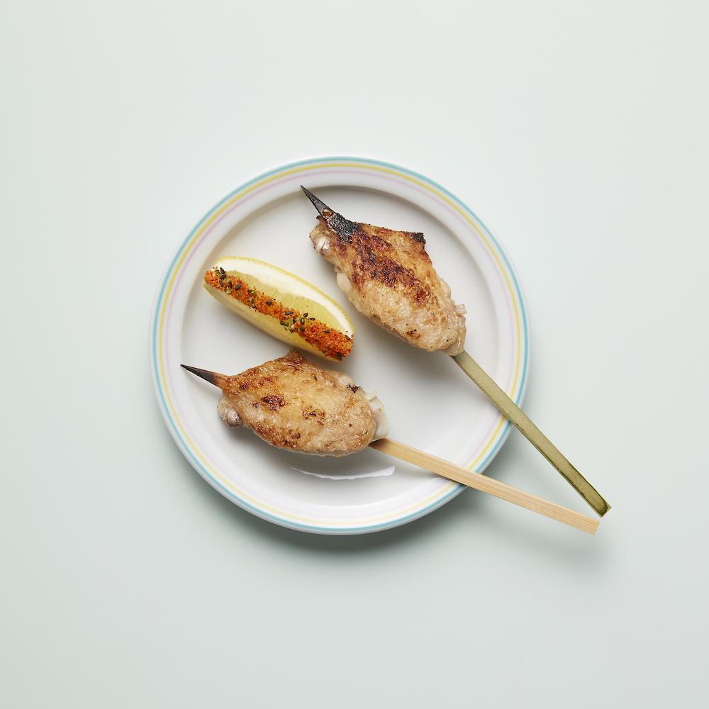 Chicken skewers at Jidori