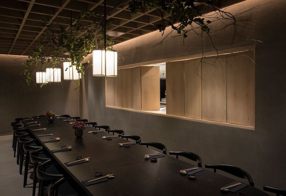 The private dining room at Sticks'n'Sushi' Kings Road