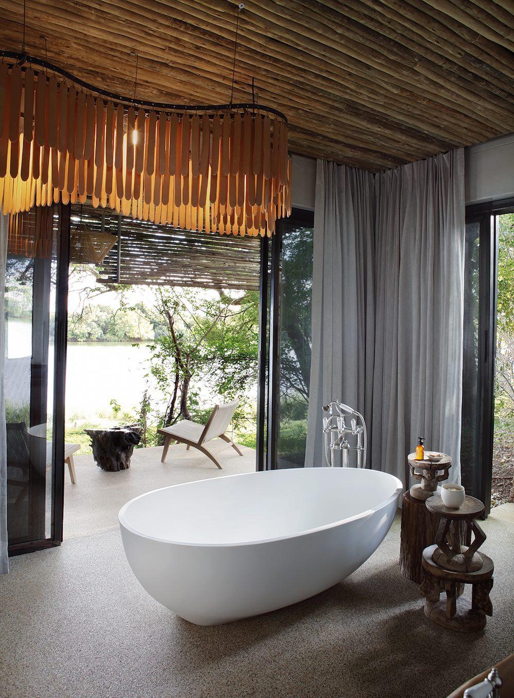 Bathrooms at Matetsi River Lodge