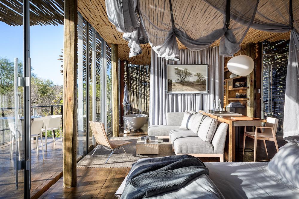 Bedrooms at Singita Lebombo Lodge